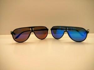 gafas de sol espejo azul rojo