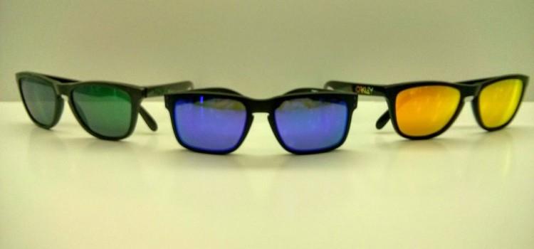 gafas de sol espejo oakley verde azul naranja