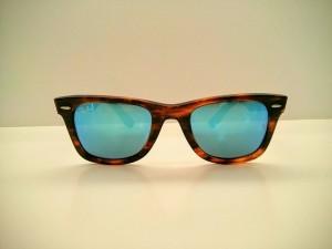 gafas de sol espejo rayban azul